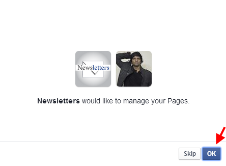 Set Newsletters to Manage Page