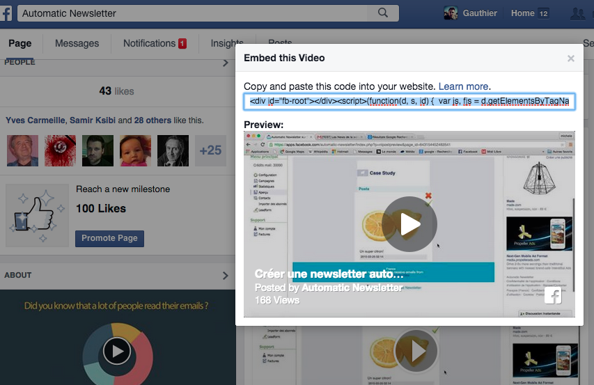 embed video fb
