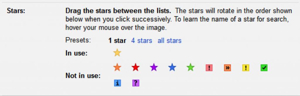 Gmail visual tags