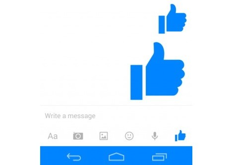 Facebook Messenger Thumbs Up Adjust Size