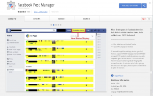 Facebook post manager