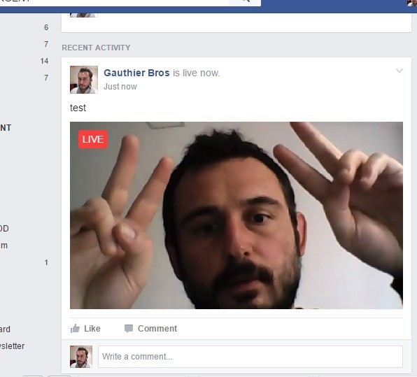 Broadcast Live on Facebook from your computer