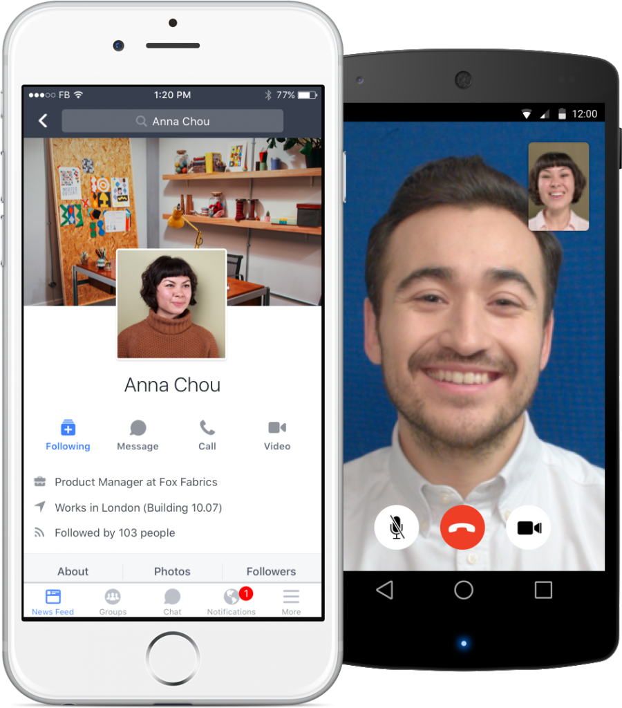 Workplace Facebook mobile apps