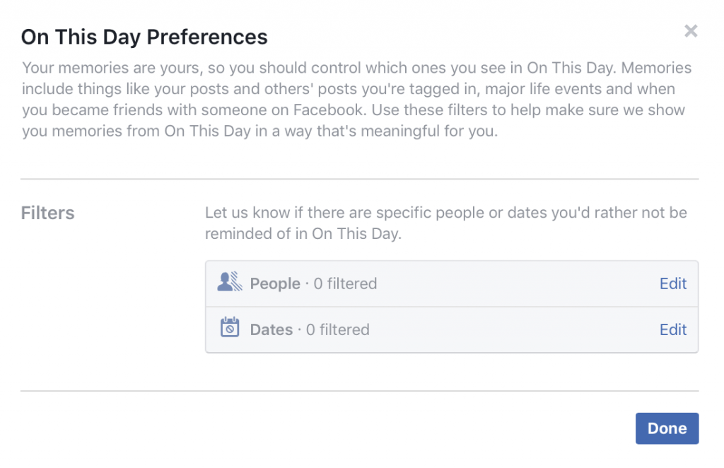 How to Find Facebook Memories on the Same Day From Past Years - Preferences